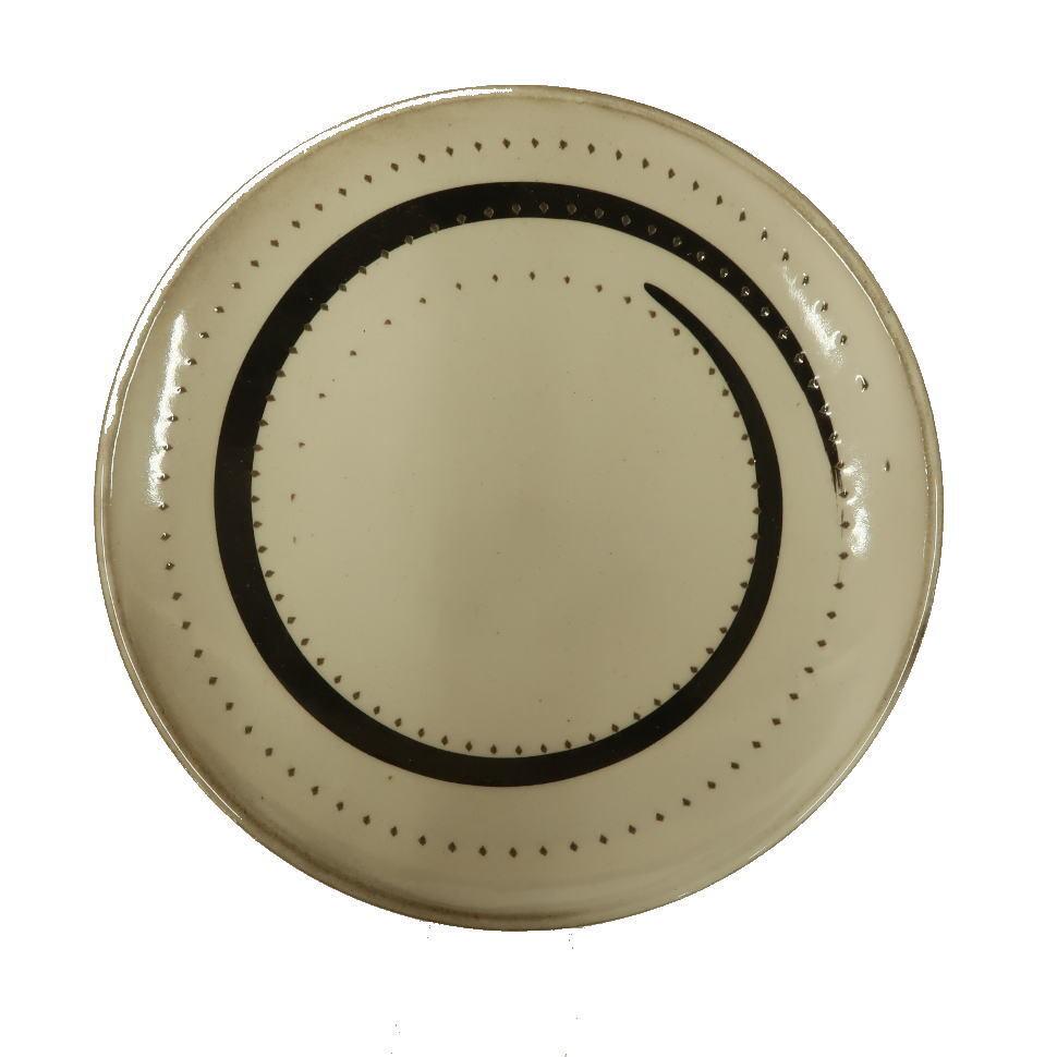 小石原焼 ケーキ皿 白トビ 鶴見窯 ¥1,560