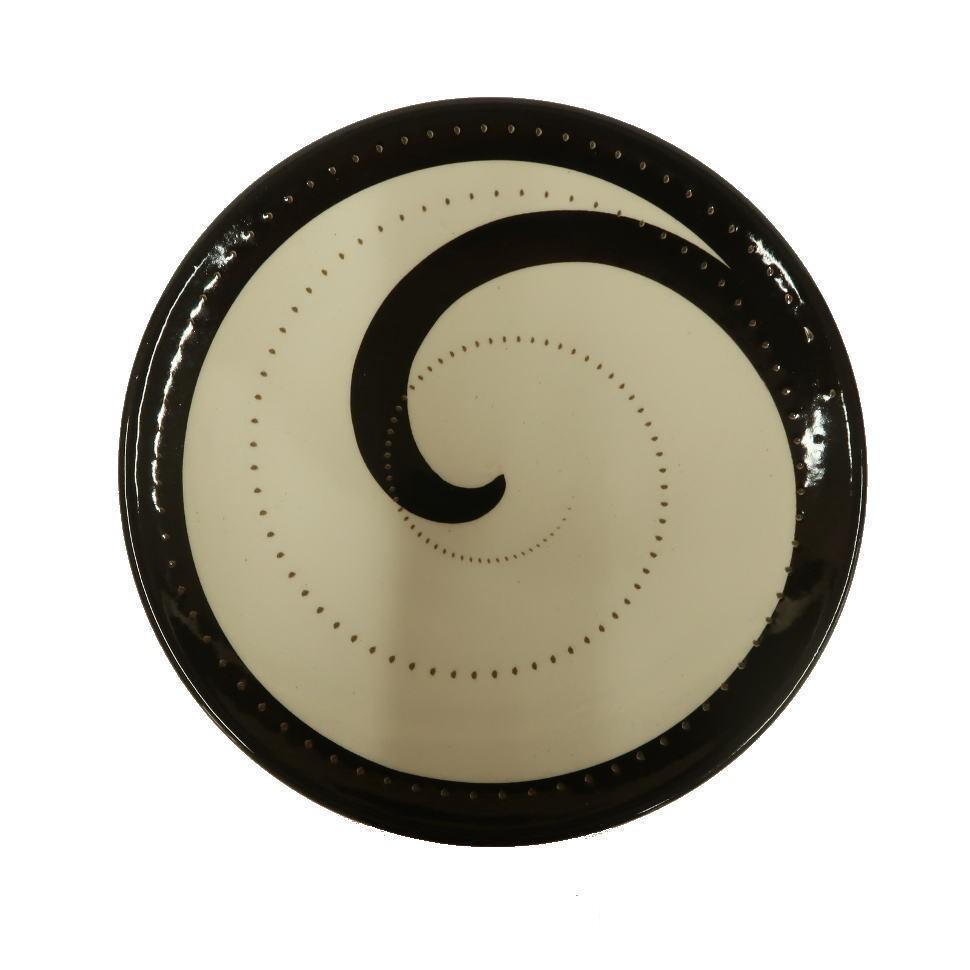 小石原焼 取り皿 黒トビ 鶴見窯 ¥1,280