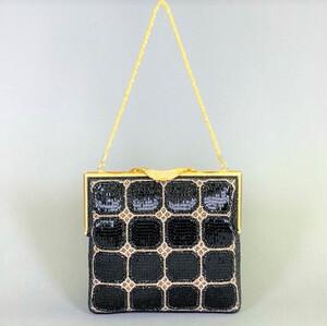 ビーズ刺繡 ハンドバッグ