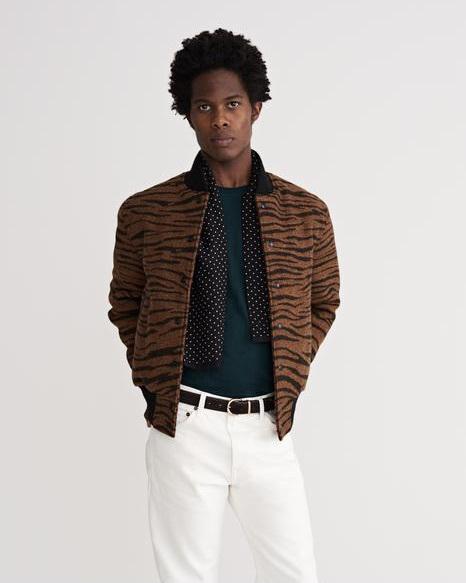 Noah x Roxy Music Tiger Varsity Jacket-¥176,000