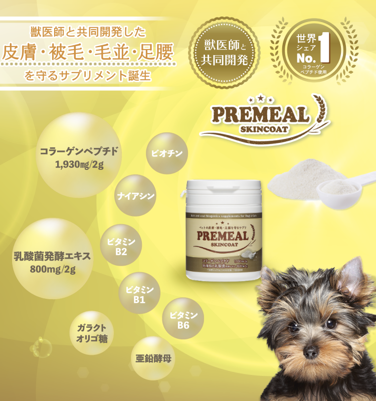 健康維持でお口と腸内環境の免疫力を保つ!16種類の乳酸菌サプリメント!PREMEALプレミールスキンコート