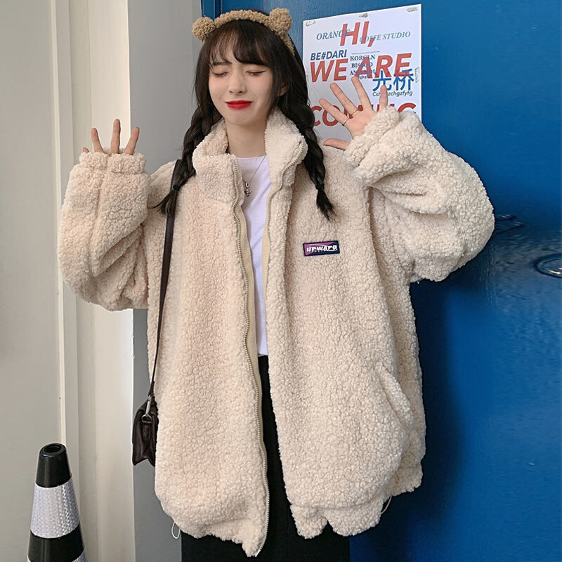 【アウター】大人可愛い! スウィート ファッション 韓国系 無地 スエード ショート丈 長袖 スタンドネック ジャケット-2-53583100
