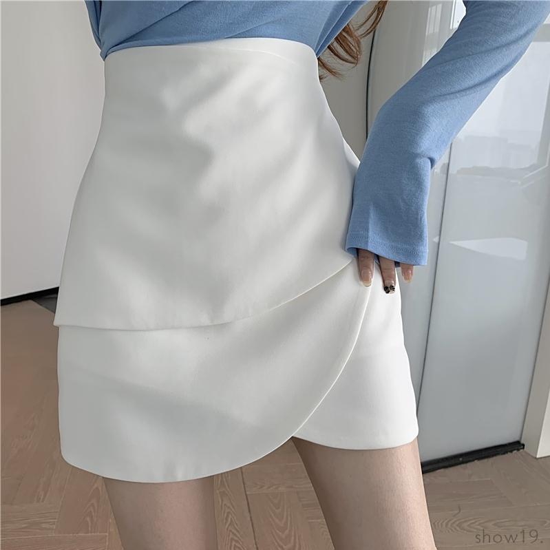 【ボトムス】今季注目 絶対欲しい 無地 シンプル スカート-5-49248934
