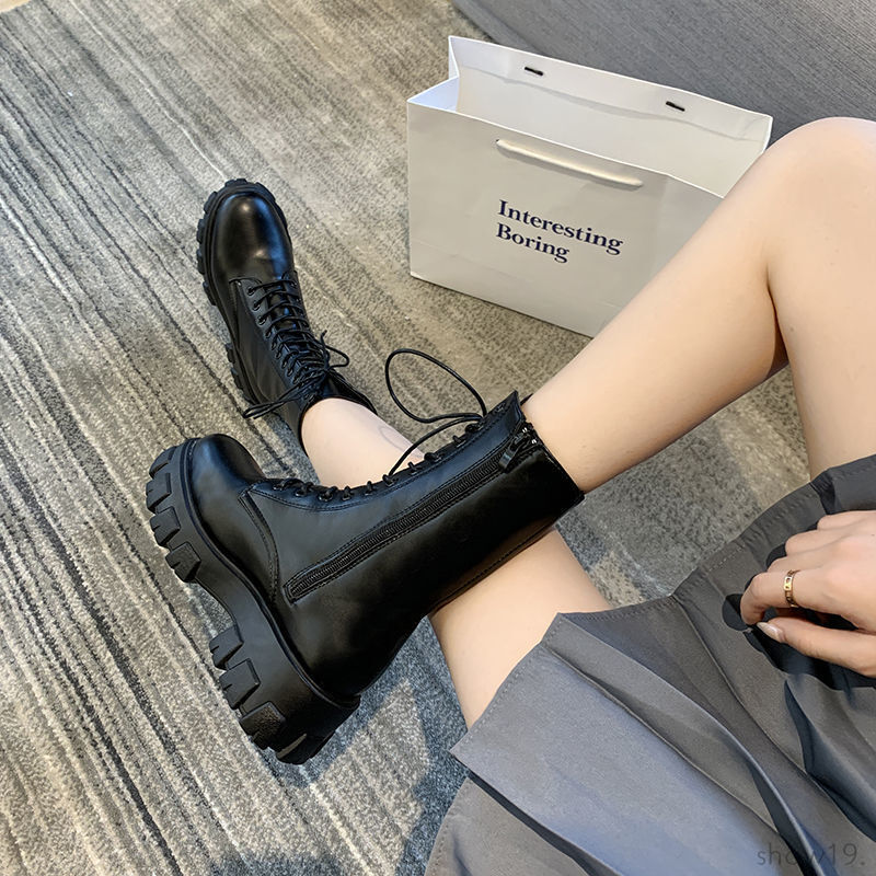 【シューズ】好評発売中品質 韓国系 ローヒール 無地 レトロ ファッション ブーツ-50340500