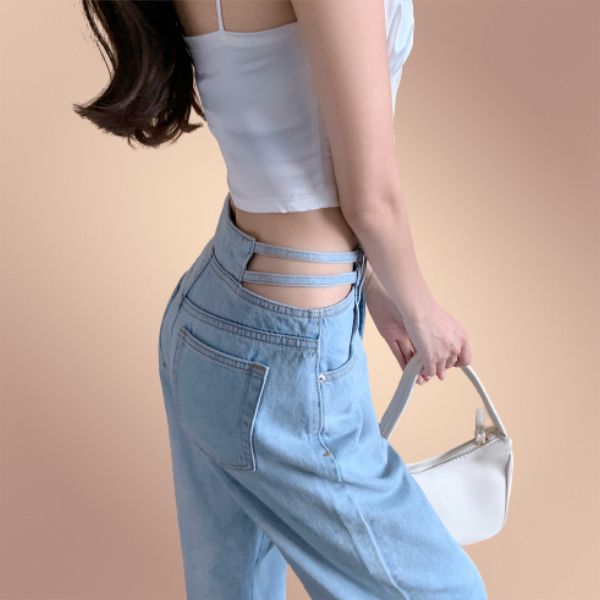 【ボトムス】気質満点 セクシー カジュアル シンプル ストリート系 ファッション 透かし彫り 春 ジーンズ42524588