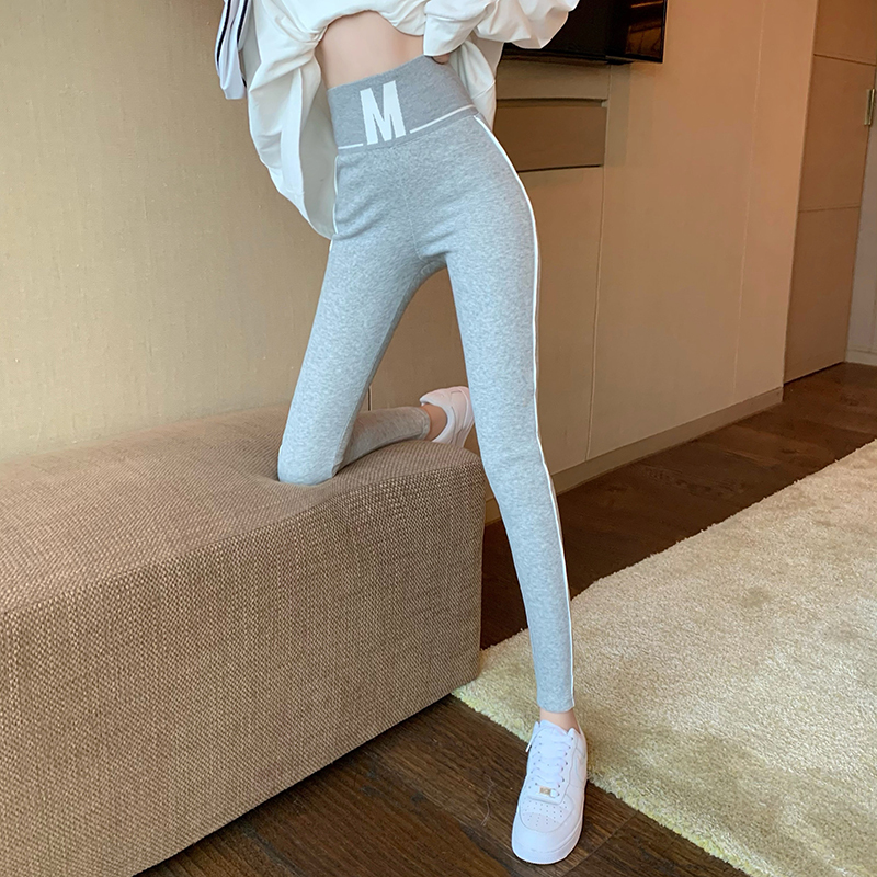 【ボトムス】韓国風ファッション 韓国系 アルファベット カジュアルパンツ-4-49163865