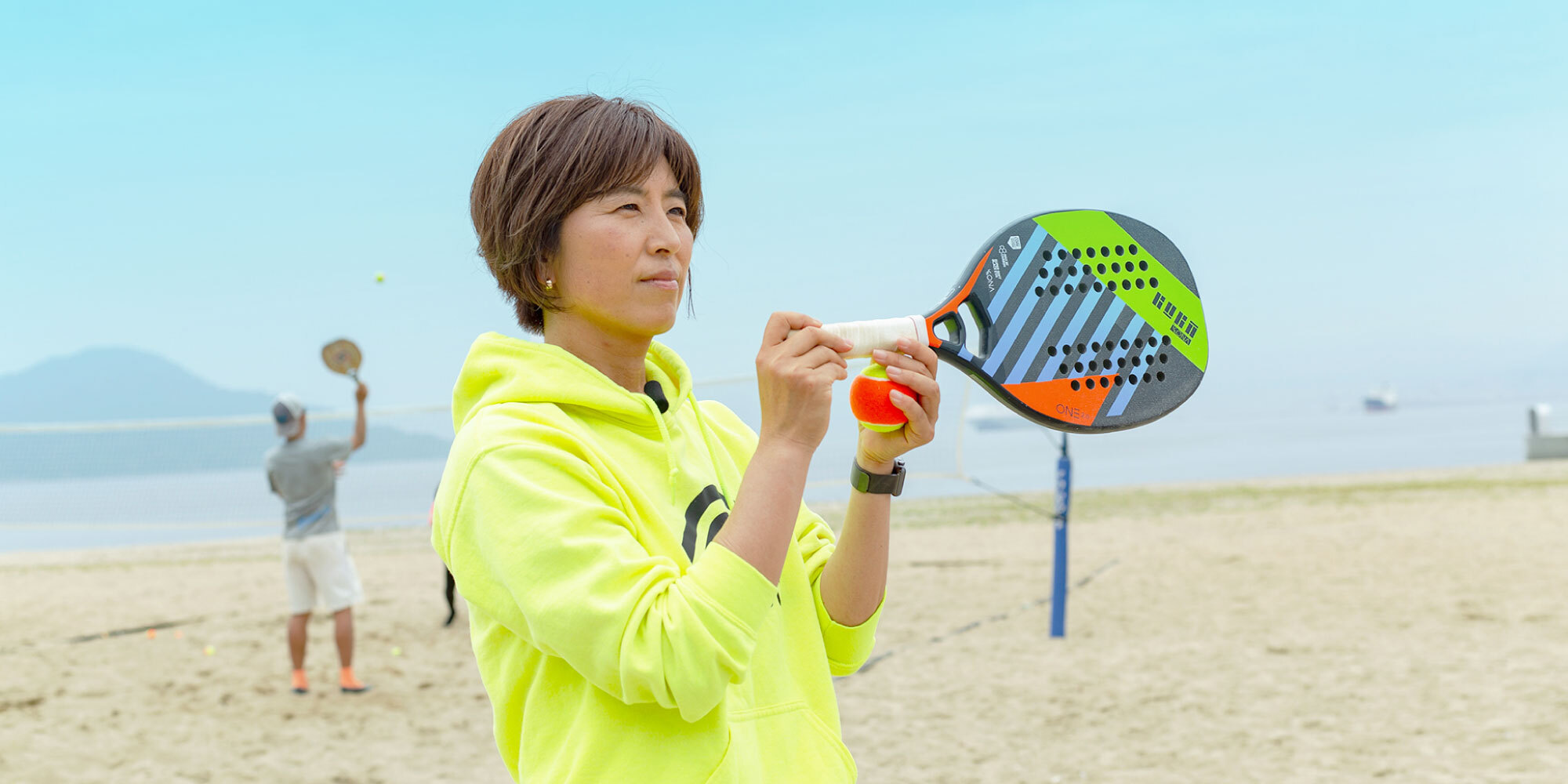 開発はビーチテニスプレーヤー