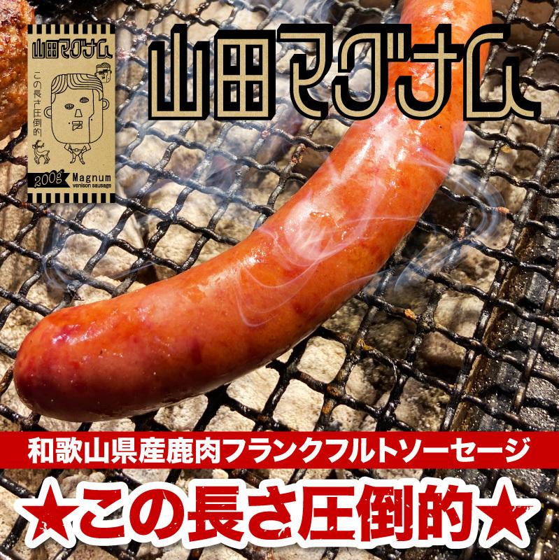 山田マグナム(和歌山県産の高級ジビエ鹿肉を使用した逸品)