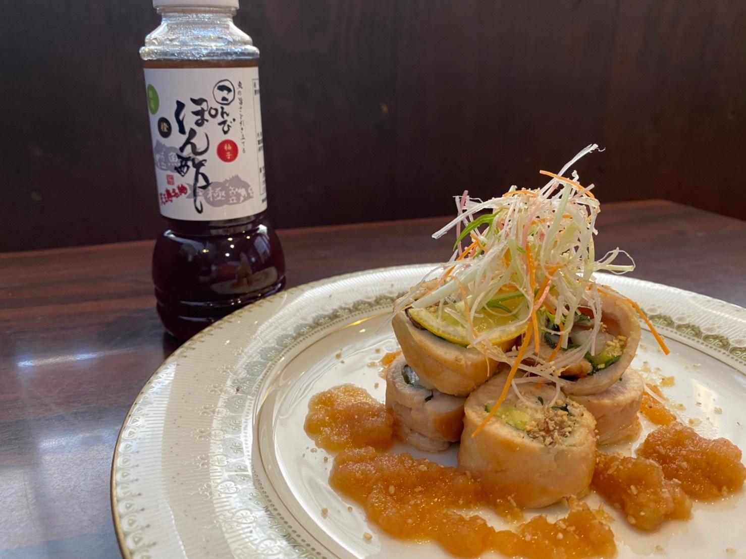 【動画でレシピ紹介!】こんびポン酢でささみの梅しそ鳴門焼☆