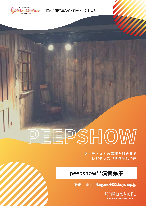 レジデンス型映像配信企画【PEEPSHOW~アーティストの素顔を覗き見る】公募開始