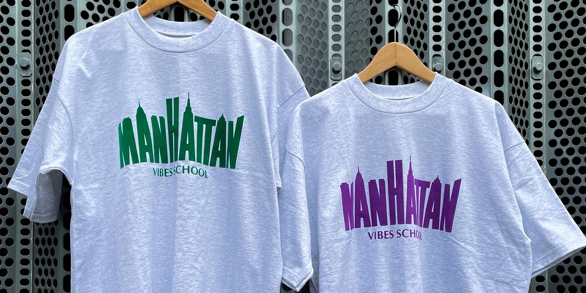 5/22 13:00~販売開始!MANHATTAN VIBES SCHOOL T-SHIRT