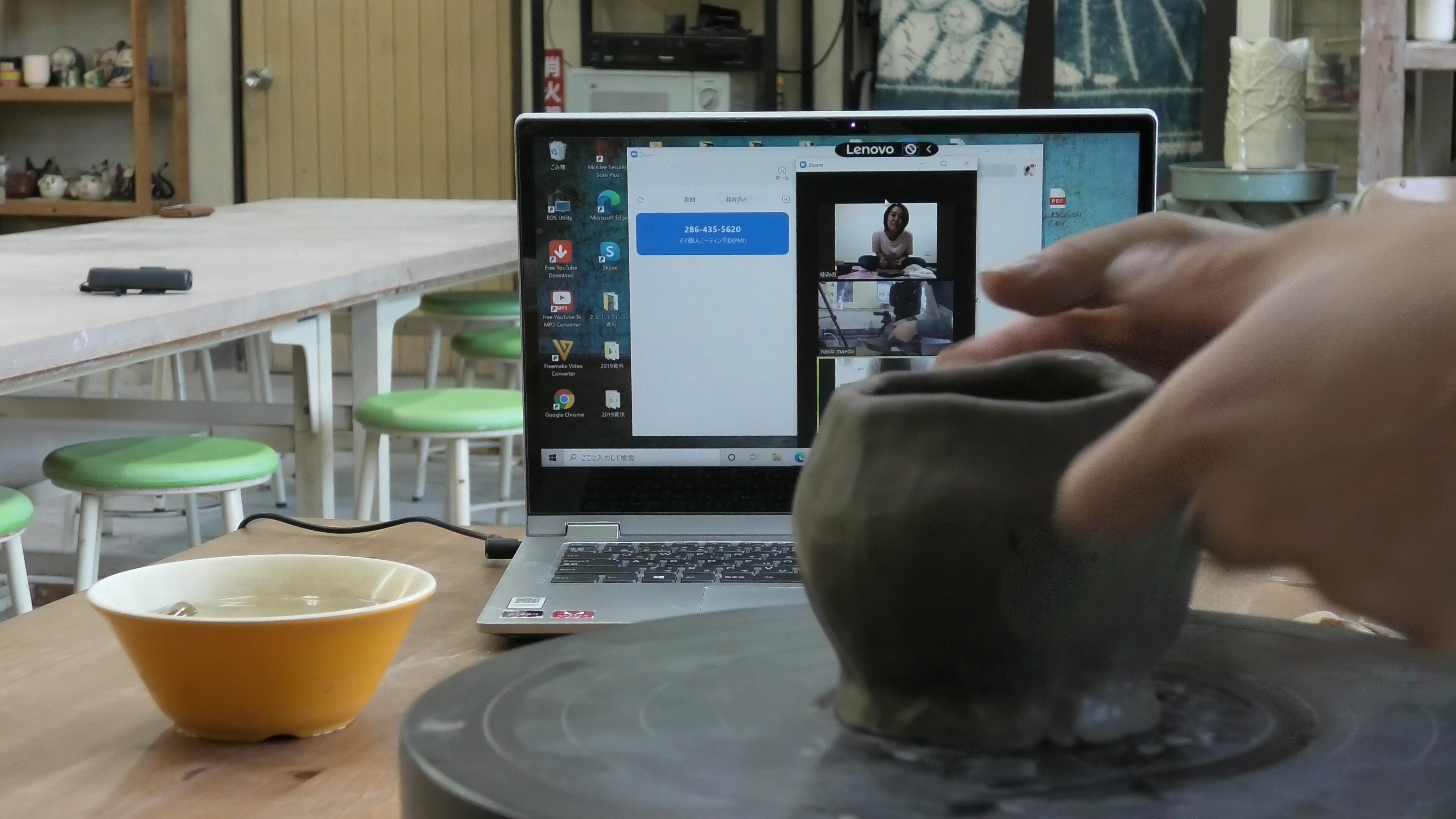 JALエンジニアリング労働組合さん主催のオンライン陶芸レクリエーション開催!