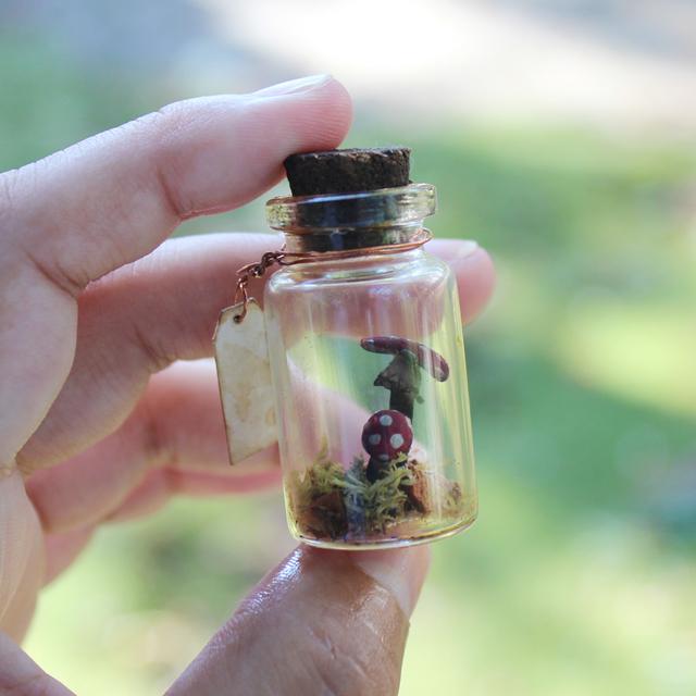 ベニテングタケのミニチュア瓶詰め