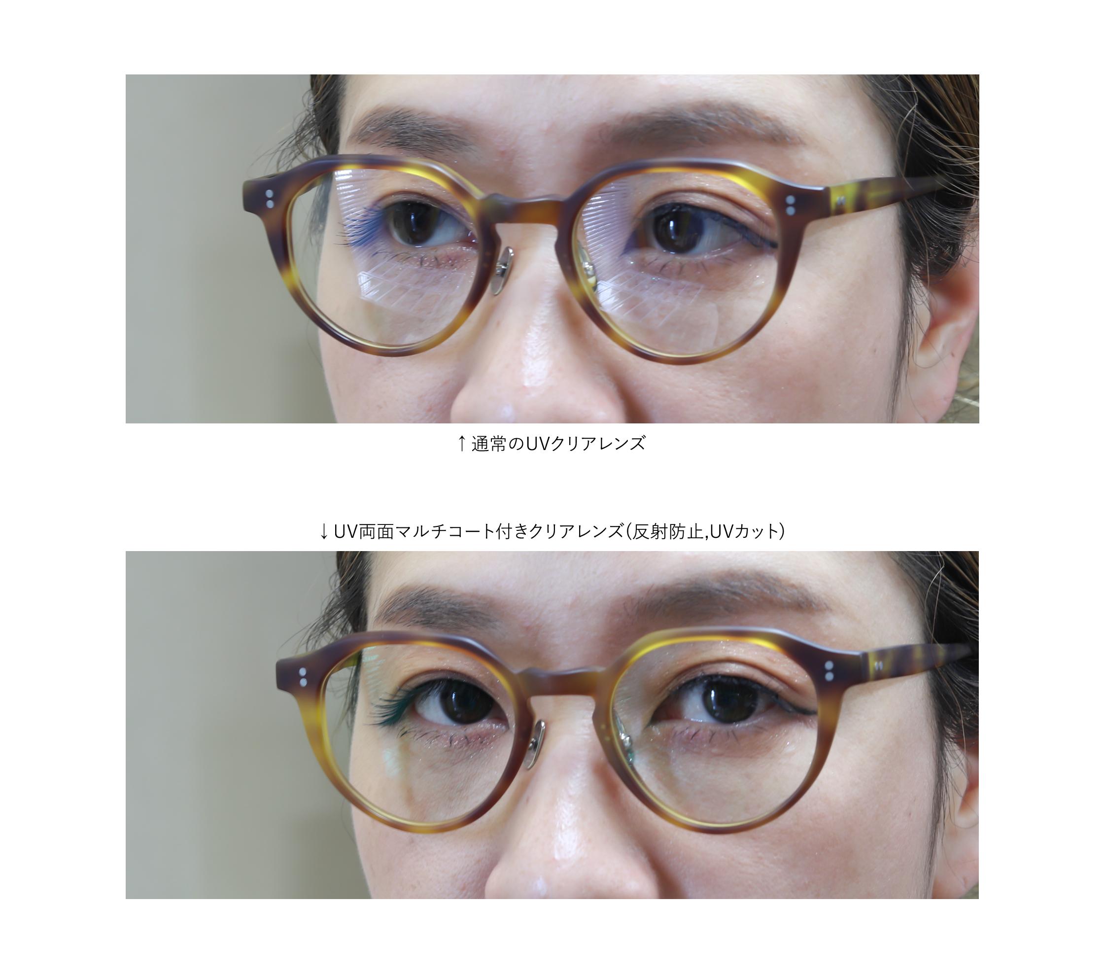 オプションでダテメガネ用UVカット付きマルチレンズ(クリアー)に交換できます。