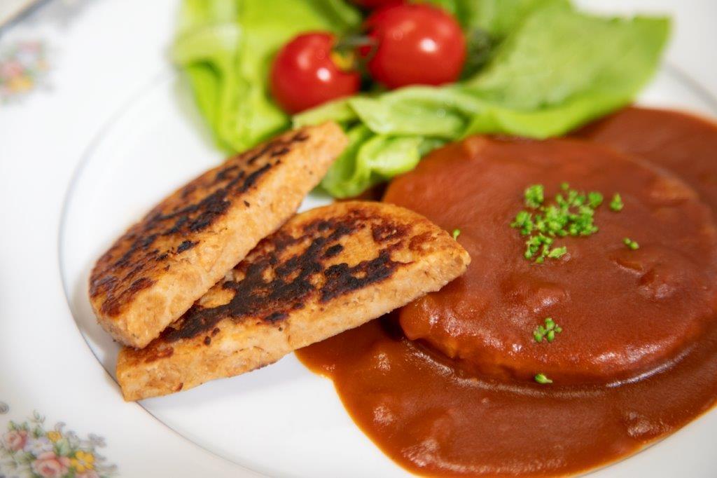 【レシピ】スプレミートのデミグラスハンバーグ #大豆ミート #大豆ミートおすすめレシピ