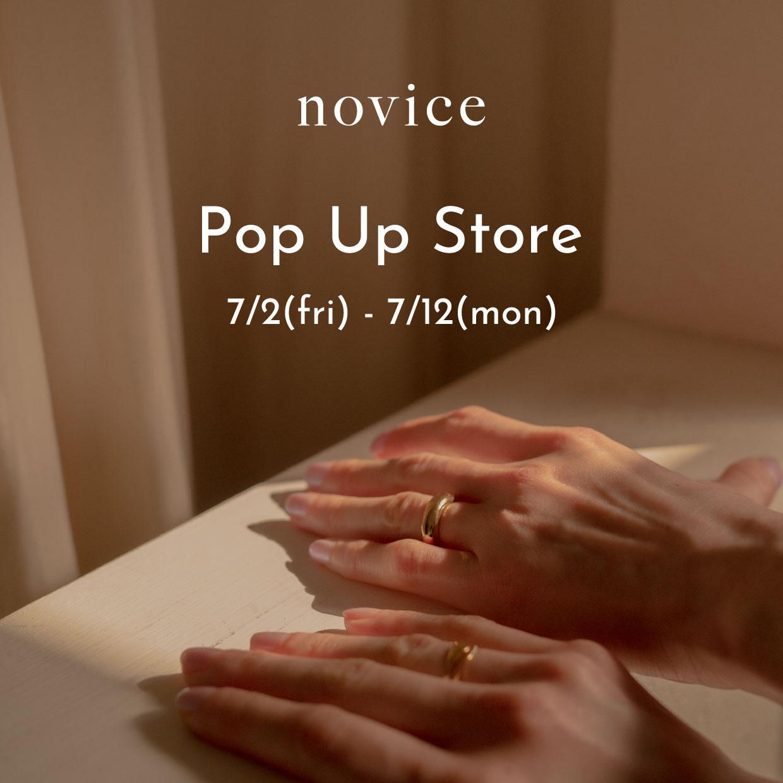novice Pop Up Store at SHIBUYA PARCO 開催のお知らせ