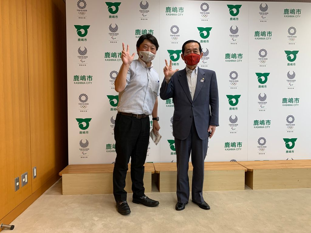 鹿嶋市長を表敬訪問しました。