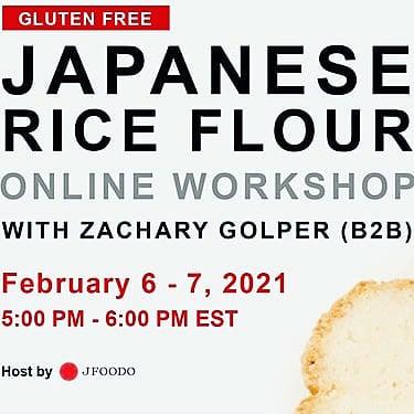 Free! Workshop Organic rice flour & bread ワークショップ
