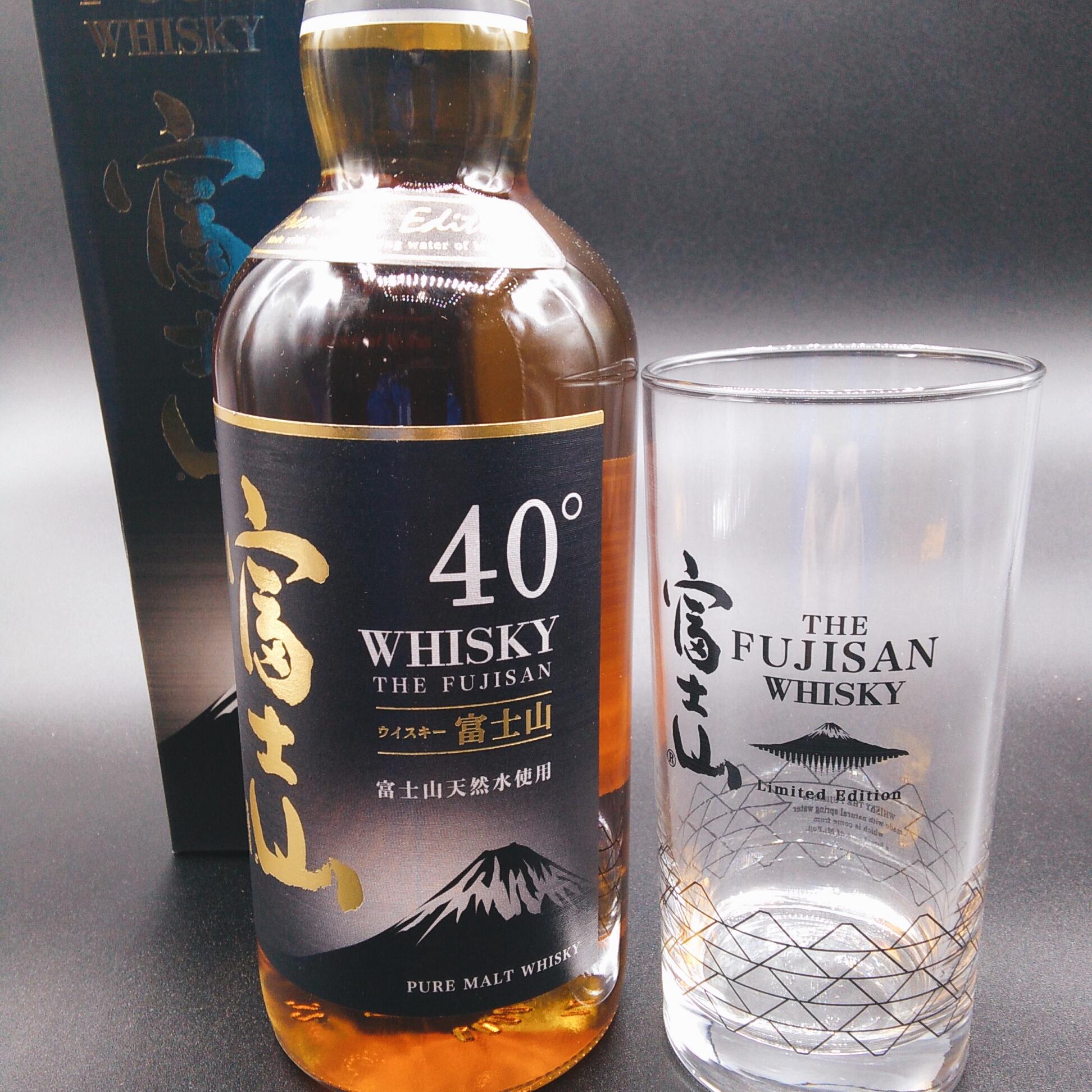 2/1 ジャパニーズウイスキー富士山 オリジナルグラス付販売。先着12名!