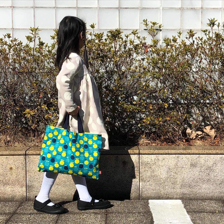 【ミニマイ通信_4】フルーツ柄のレッスンバッグ(おすすめハンドメイド)