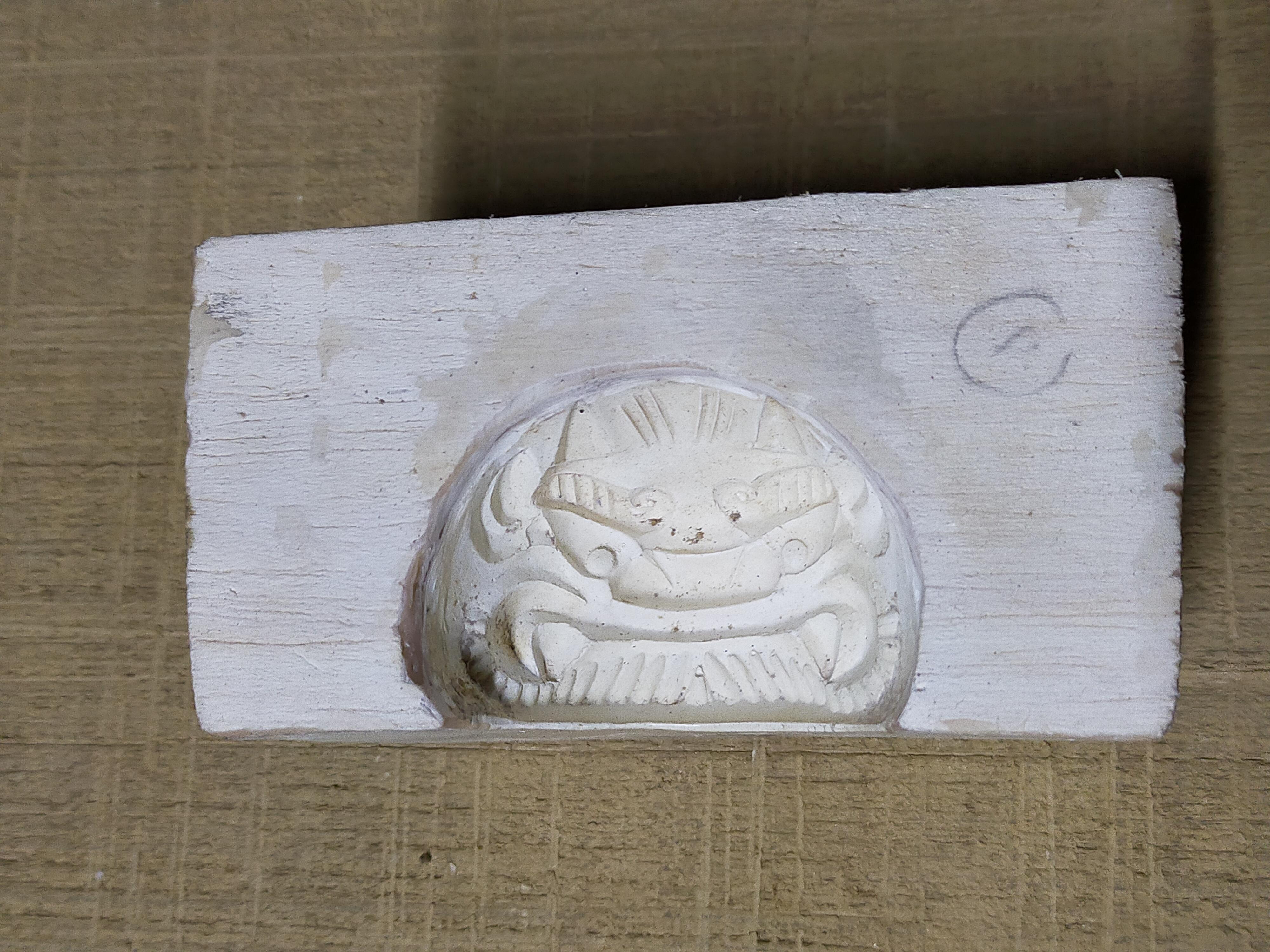 量産鬼瓦の製作工程② ~石膏型の製作~