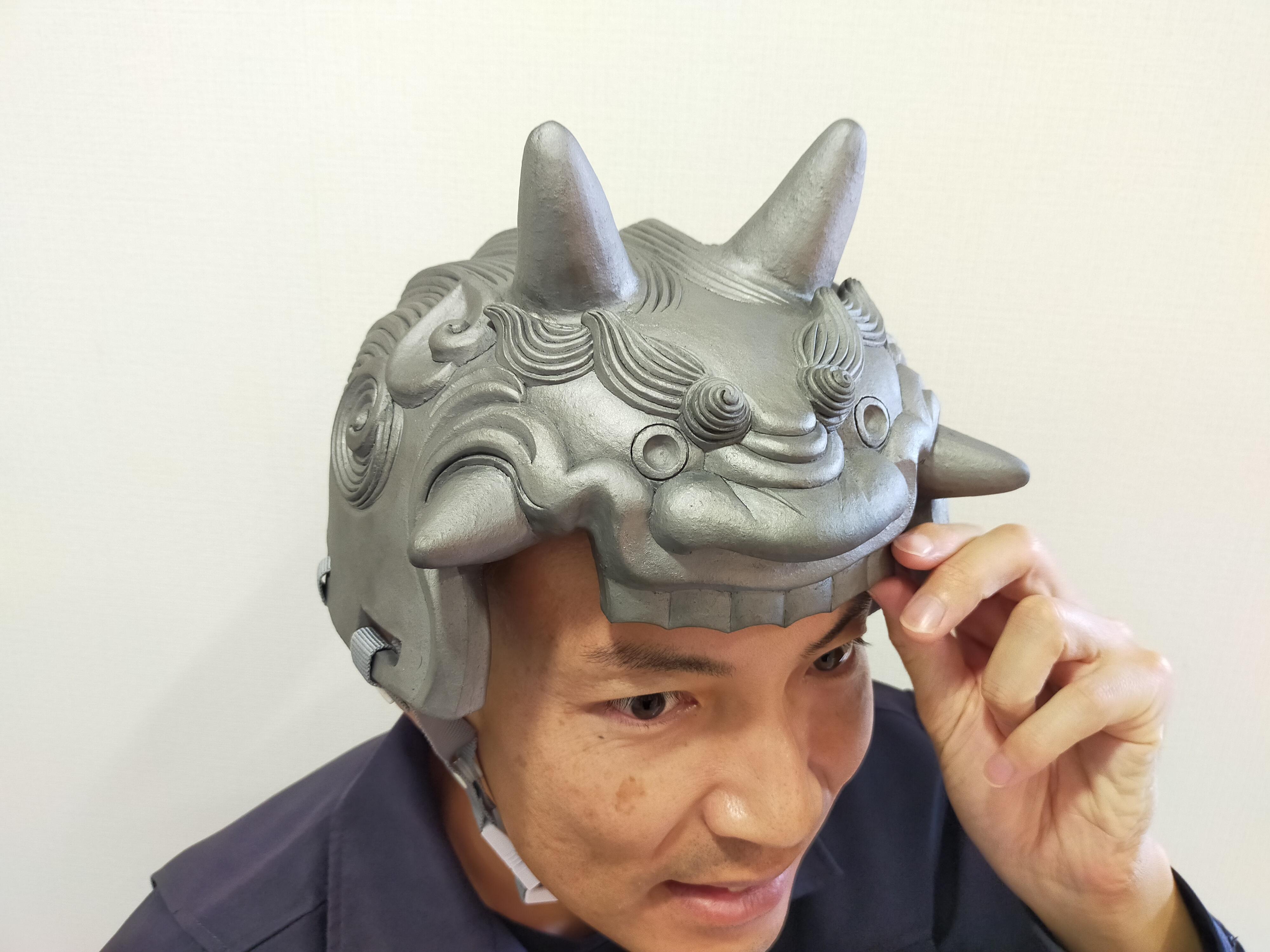 鬼瓦ヘルメットが1月4日のCBCテレビに出ます。