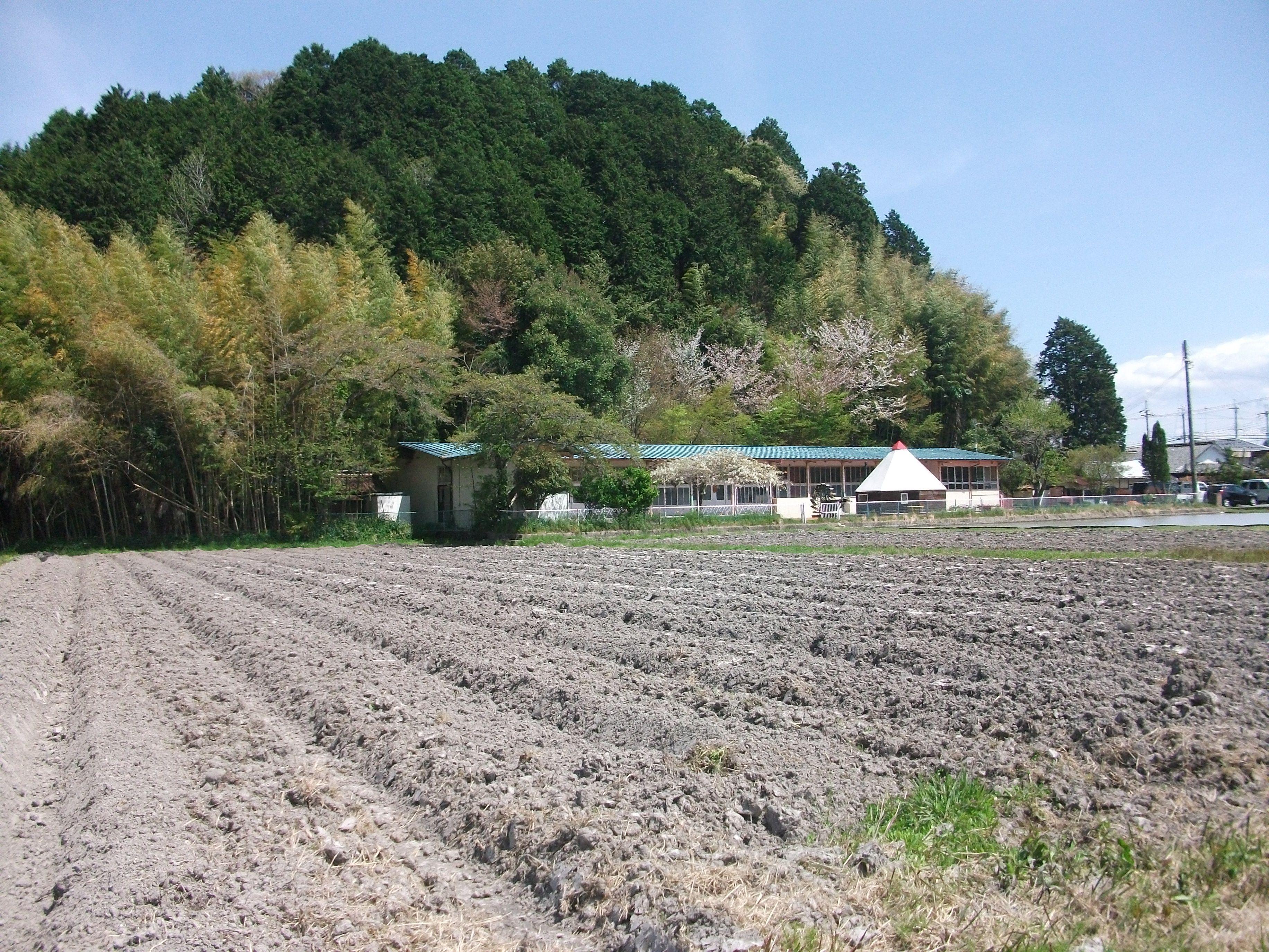 アグリステーション前の畑の畝立てが終わりました