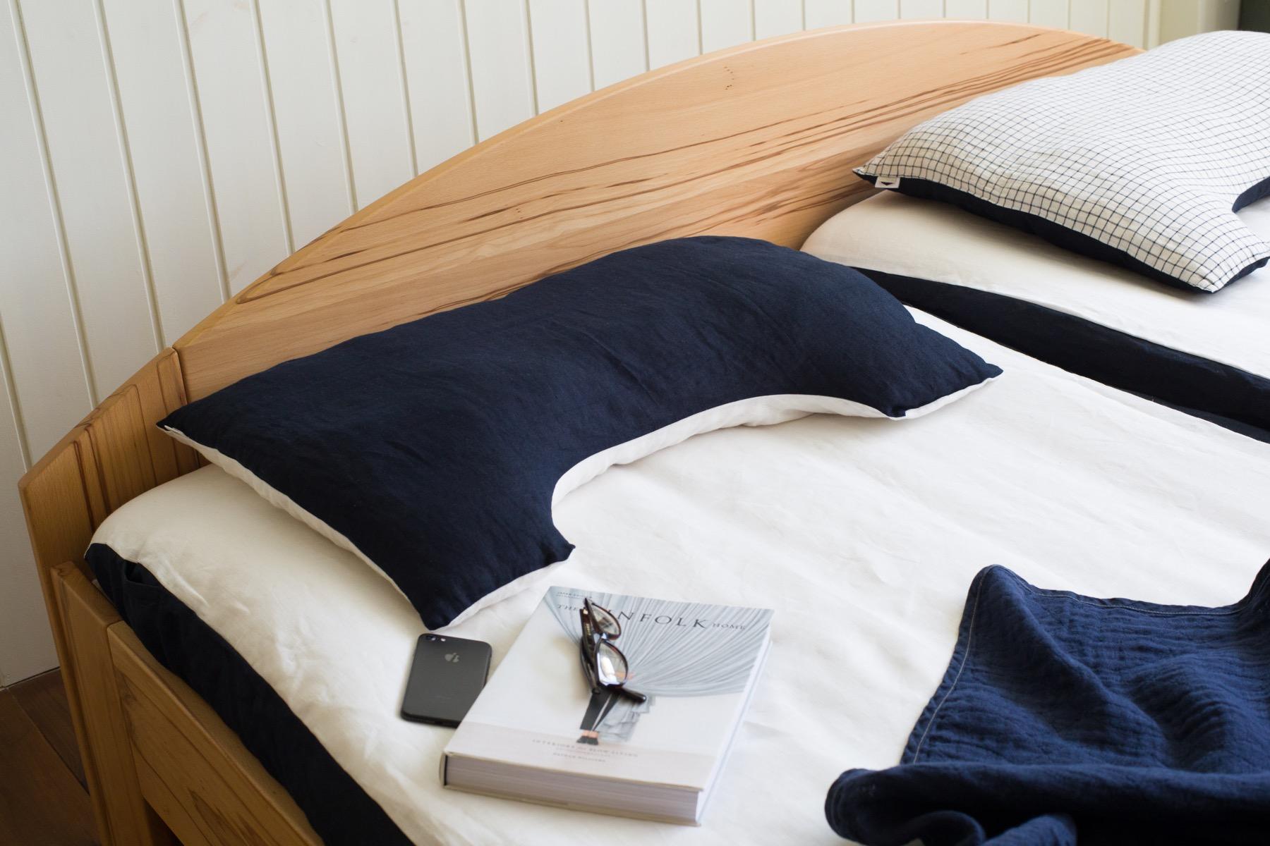 フォグリネンワークに作ってもらったリネンの枕カバー