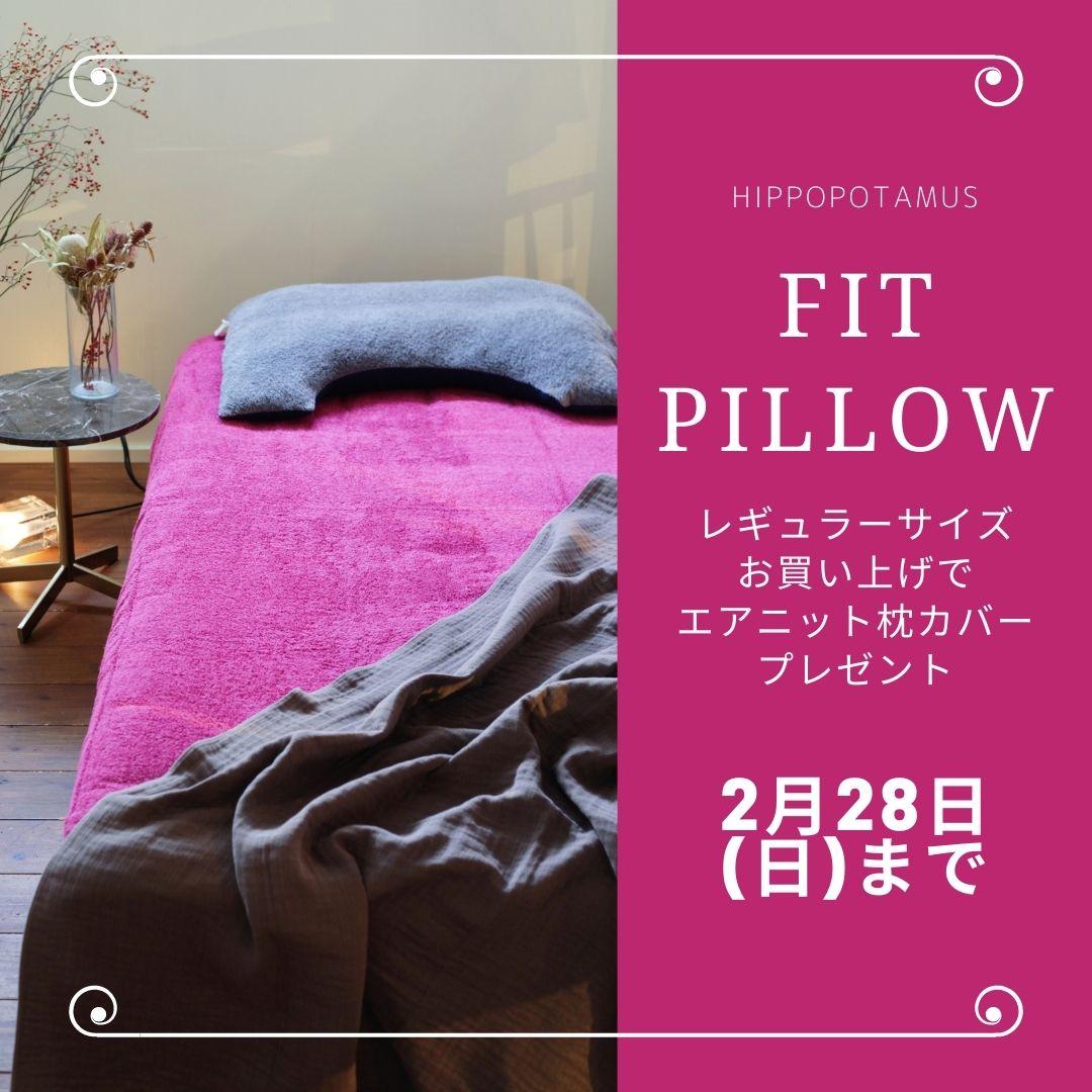 ヒポポタマス枕(本体付レギュラーサイズ)をお買い上げでエアニット枕カバープレゼント