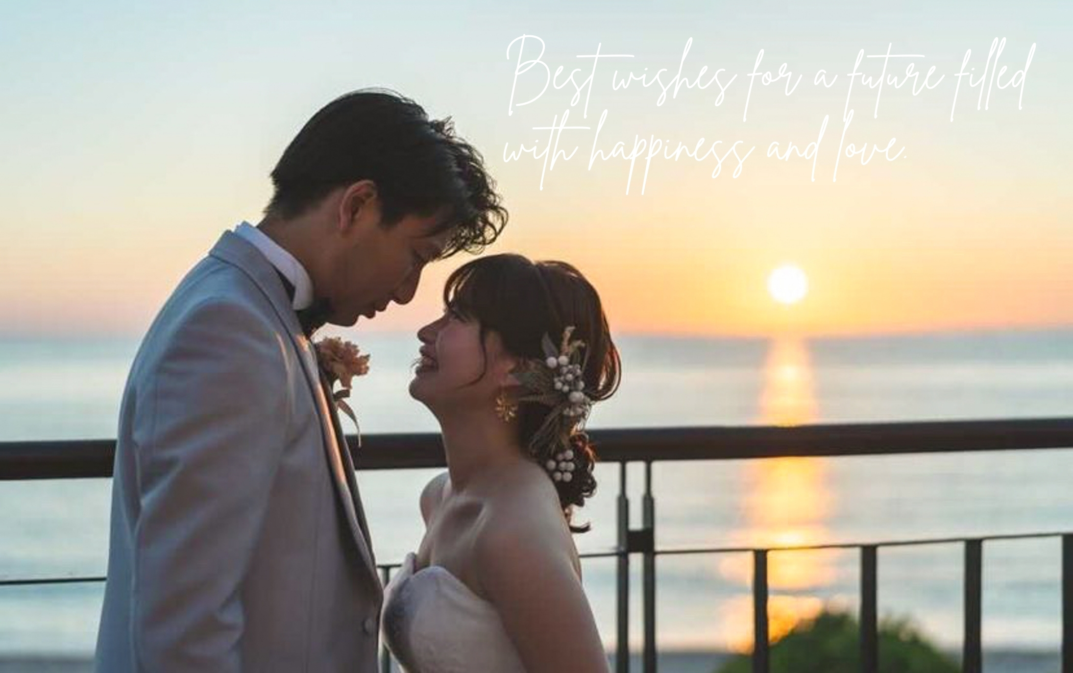感動的なSunset wedding ♡