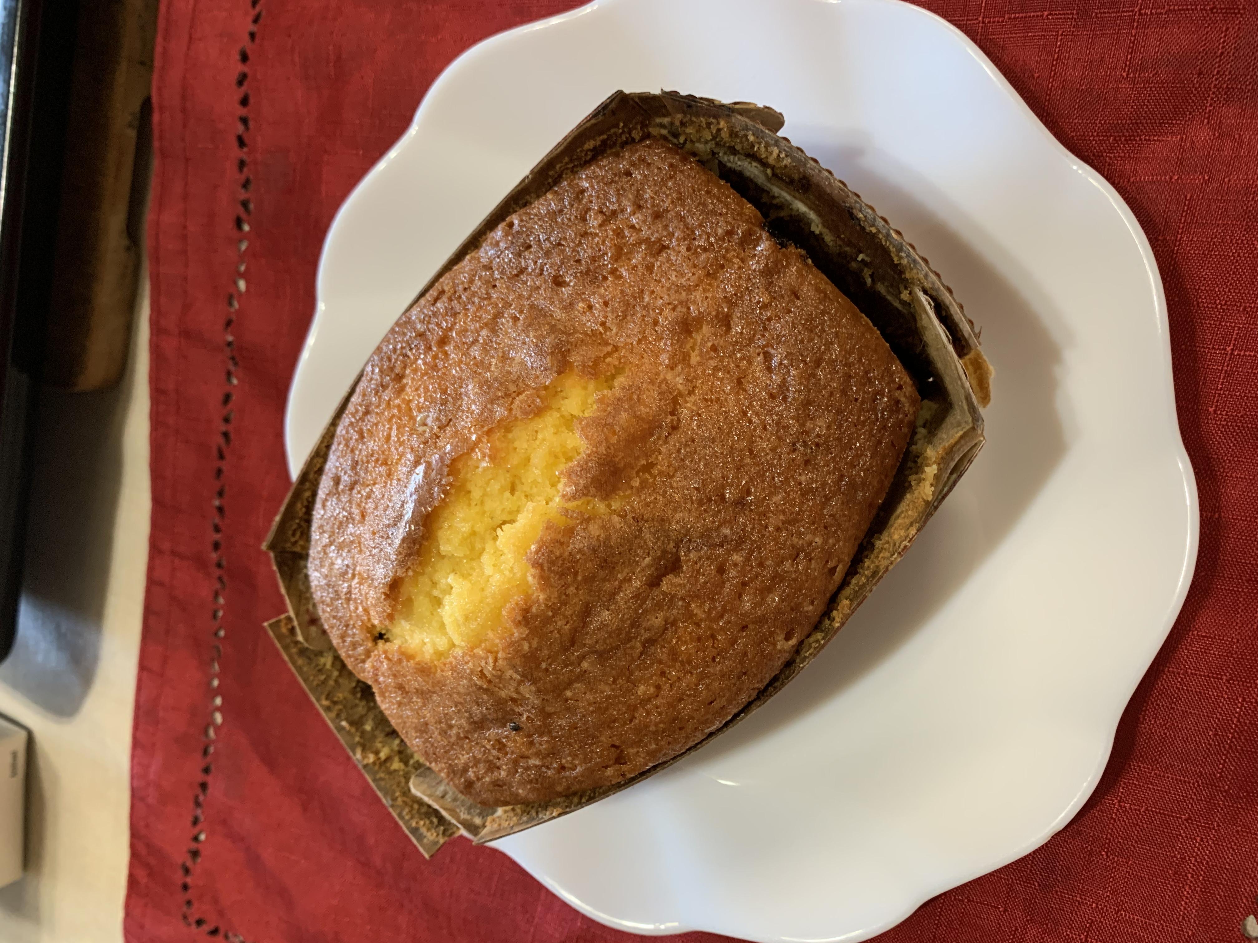 黒にんにくジャムとクリームチーズのパウンドケーキ