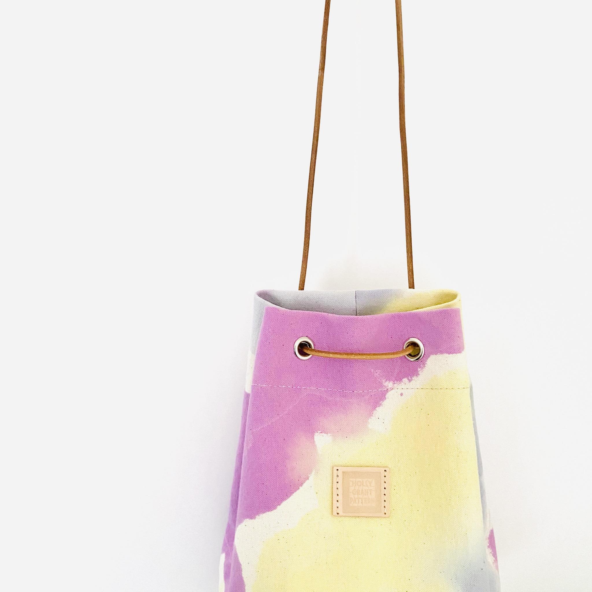 新作のハトメ巾着バッグ、発売開始してます!