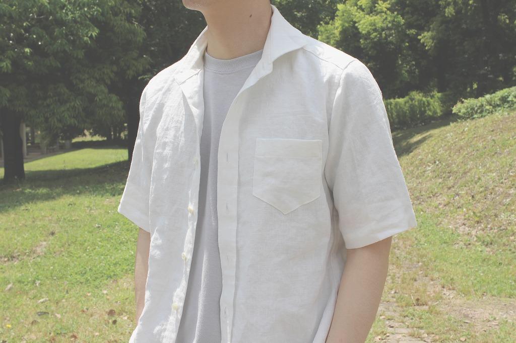 麻・白・半袖