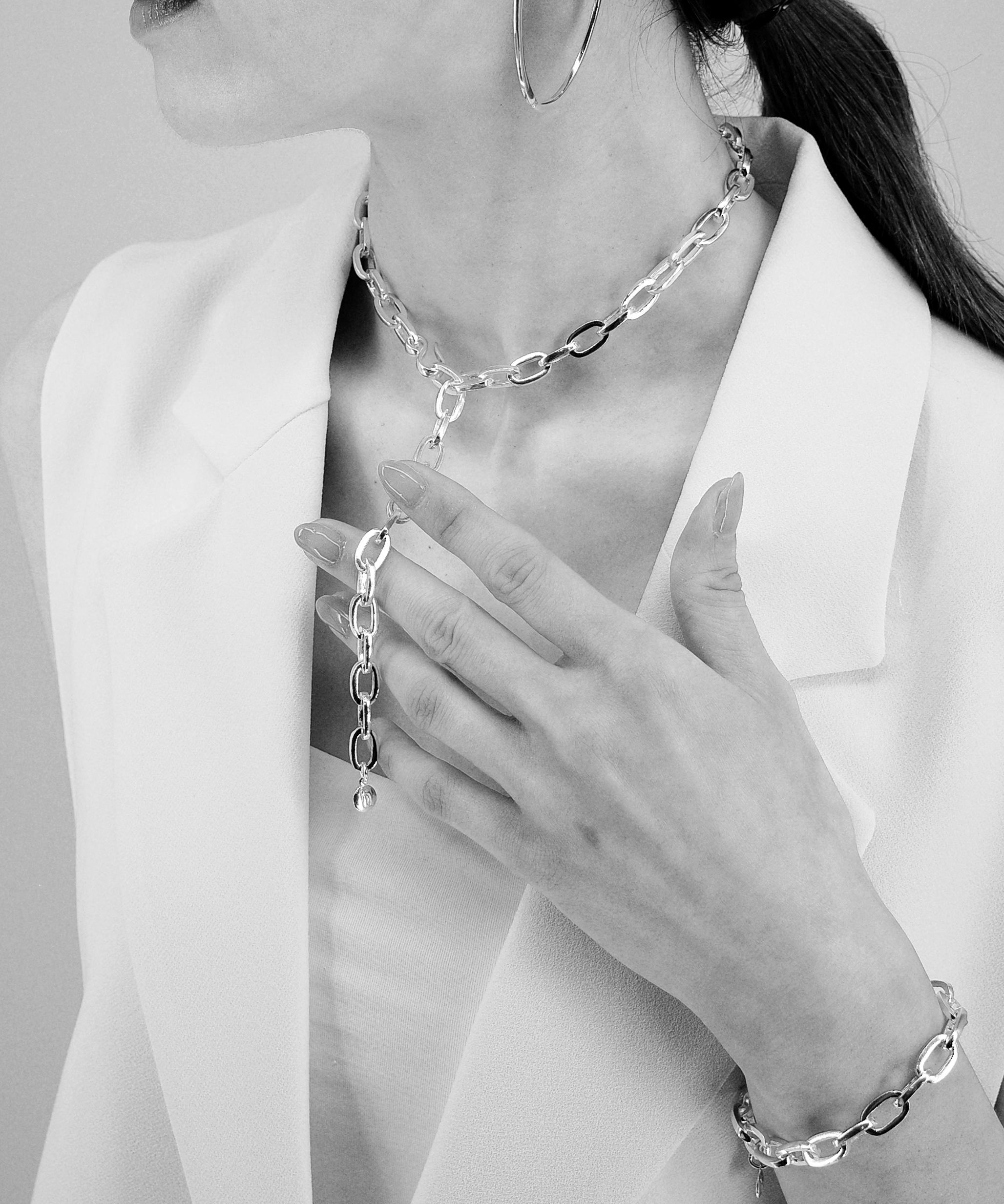 【JOURNAL】〈blanc iris〉④B chain  Necklace スタイリング