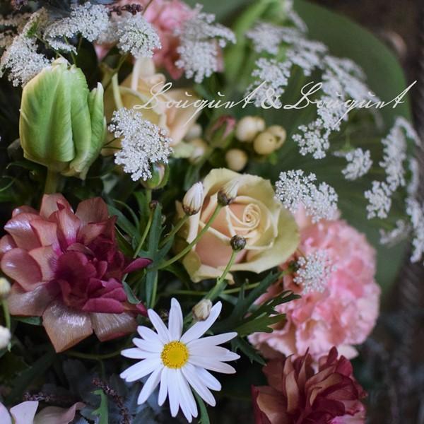 花の種類は春、人気の男性用の花束 幕張店のお花情報