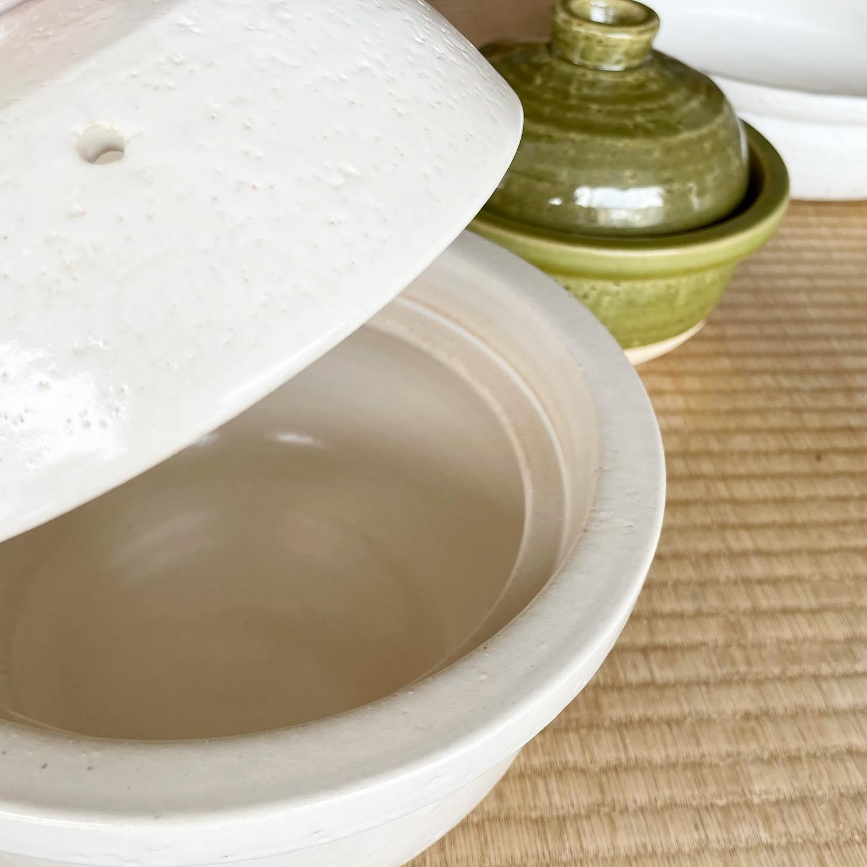 白いsimple土鍋(特注承ります)
