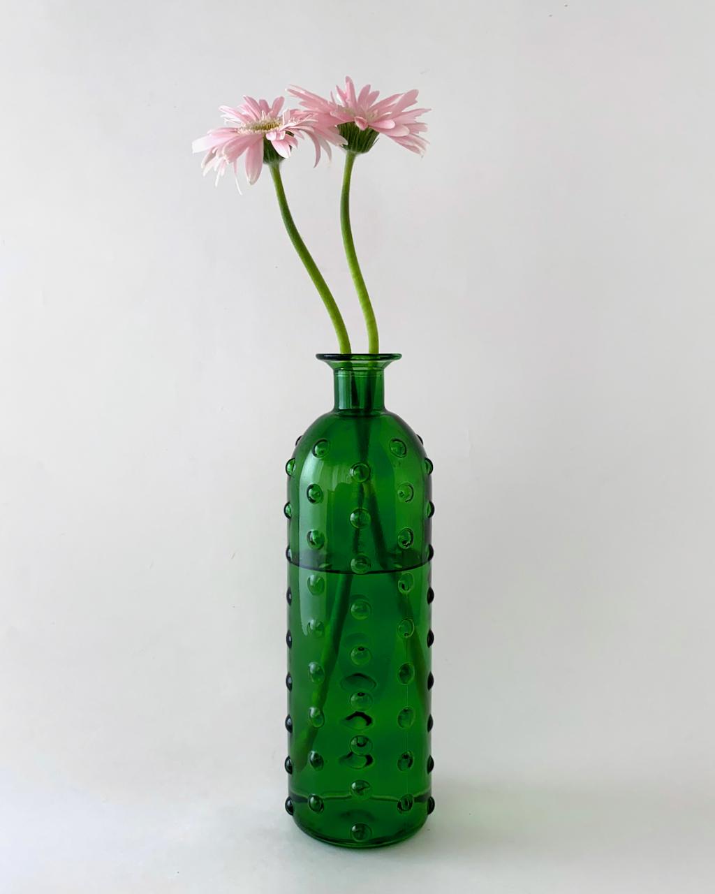 Bottle Bubble Green Vase|フラワーベース