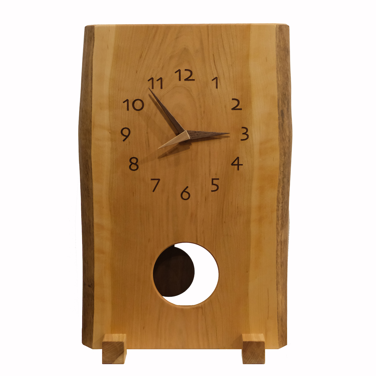 壁掛け時計を置き時計に。
