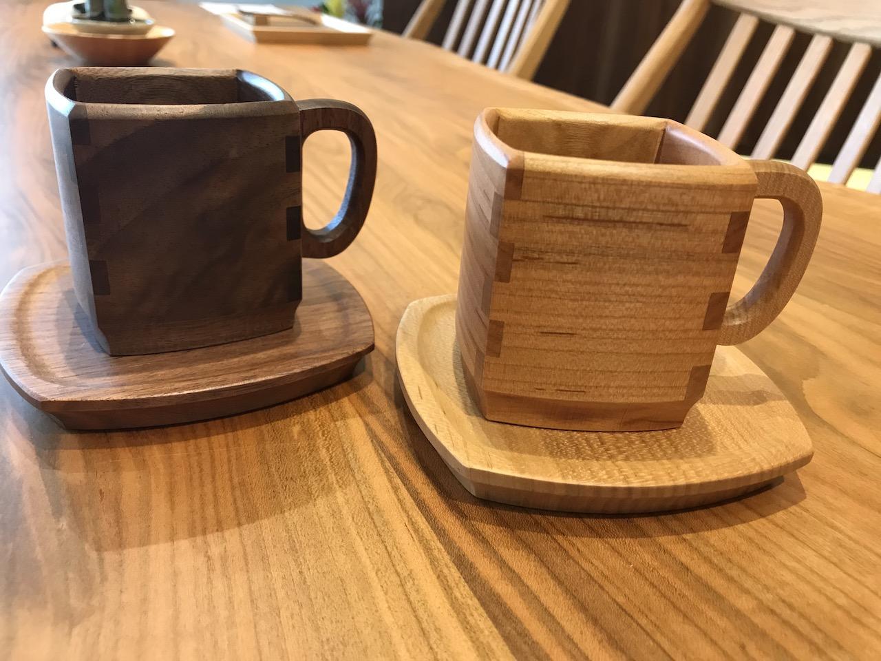 SWINGオリジナル 木のコーヒーカップ&ソーサー 再入荷しました