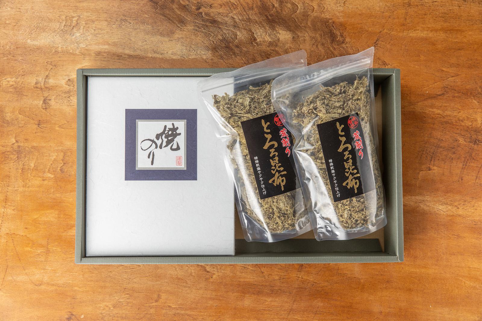 海藻の料理名人小野徳かぁちゃんがオススメする 風味最高!売上 No.1黄金コンビのギフトセット誕生!