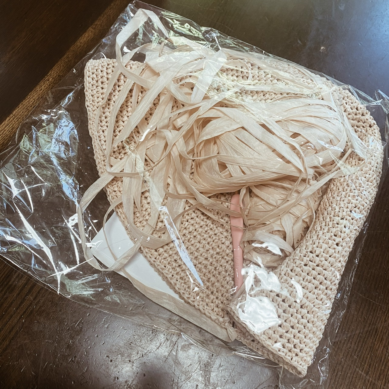 手編みの帽子♪