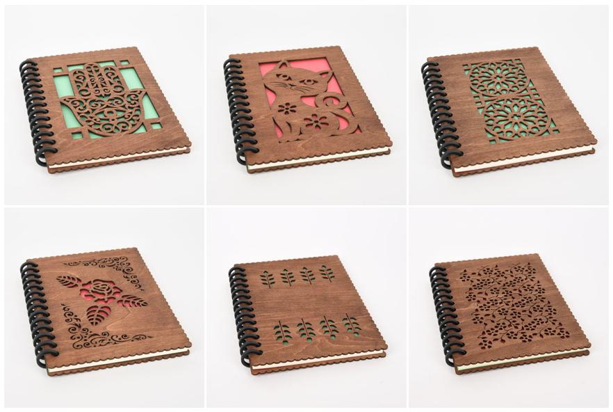 木のノートブック(木製ルーズリーフ)