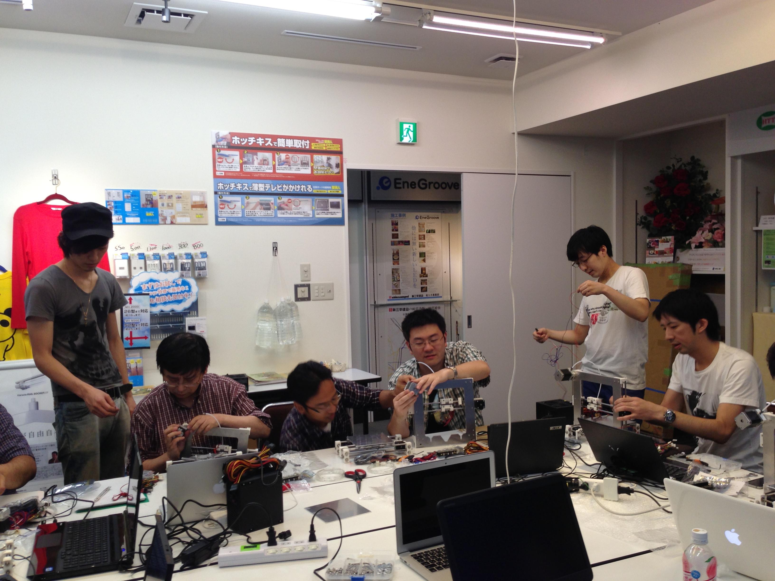 atom3Dプリンター組立てワークショップ ザ・ファイナル!!
