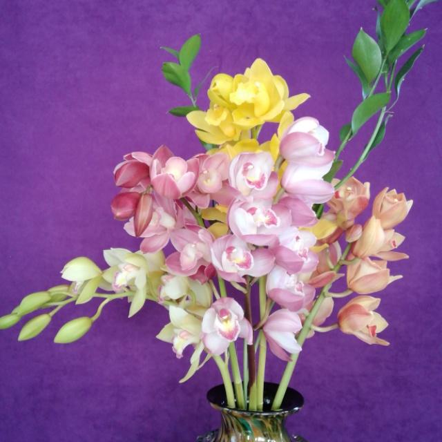 1/14 オリジナル・シンビジュームの花束、ご注文承っております!