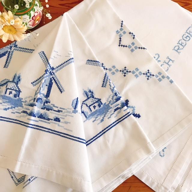 青糸手刺繍の世界、テーブルクロスとクーポンのご案内💙