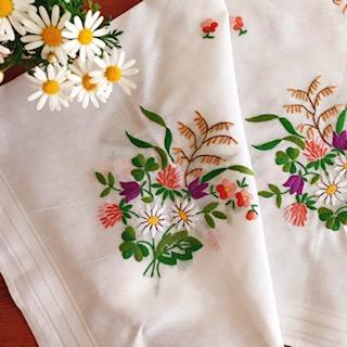 お花の刺繍クロス 4点♡