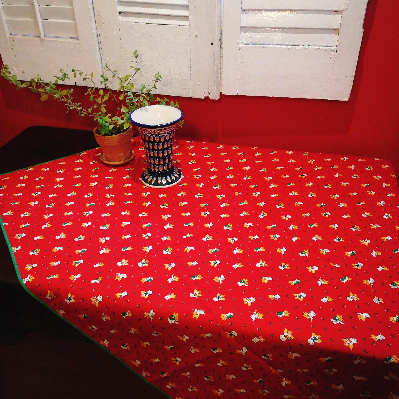 天使のプリント★クリスマス★テーブルクロスをアップしました