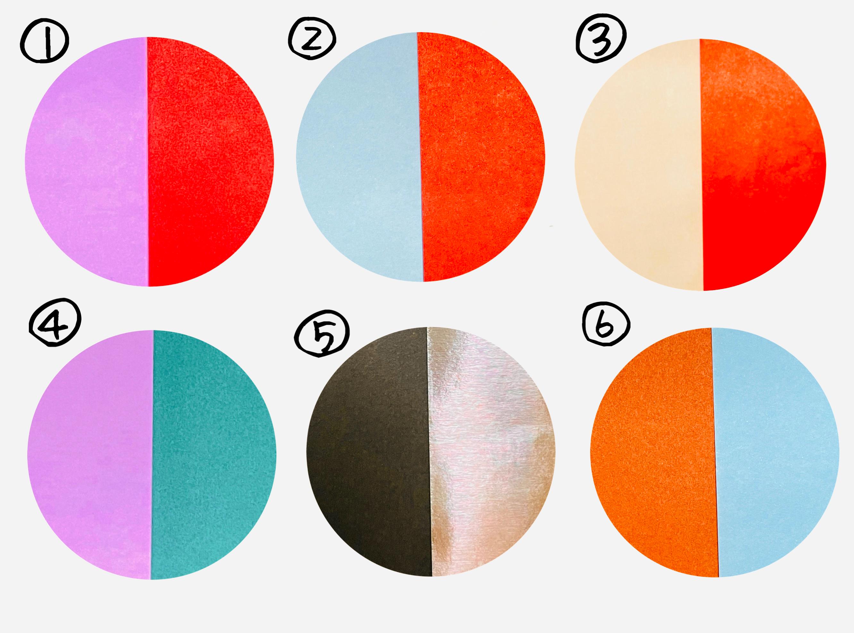 おしゃれな色の組み合わせ。