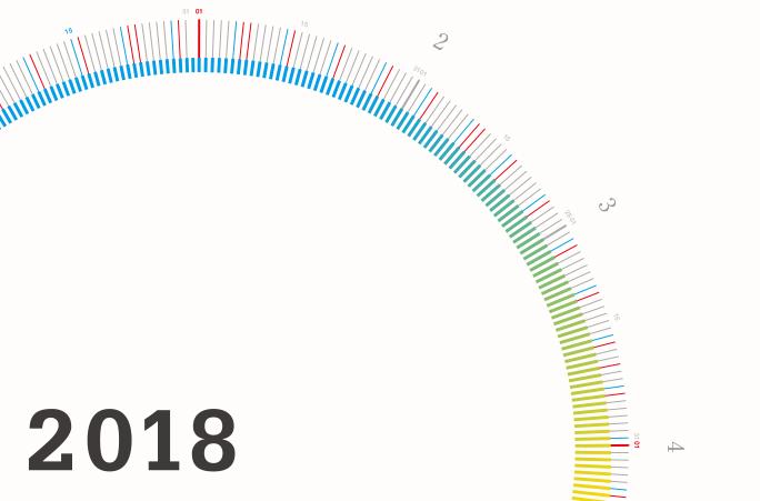 2018年mi e ru サークルカレンダー、1月頭に販売開始予定です。