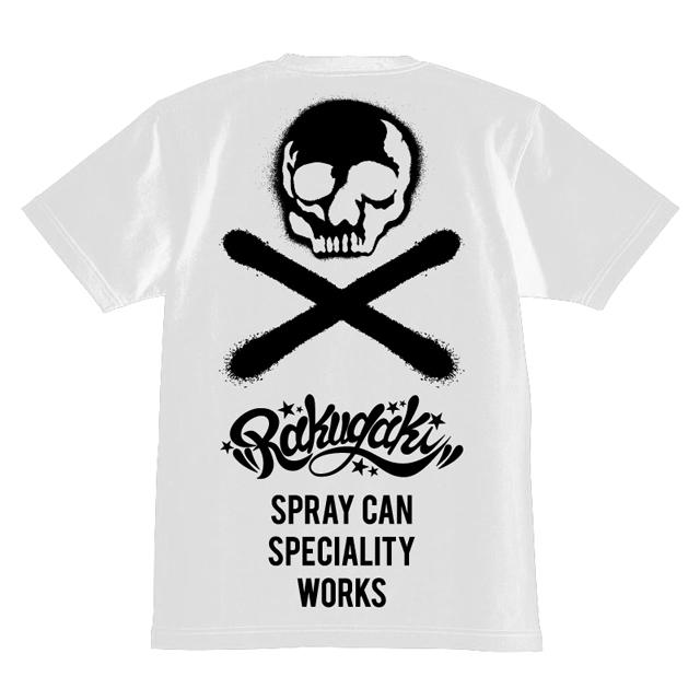 RAKUGAKI Stencil Skull Logo T-Shirts